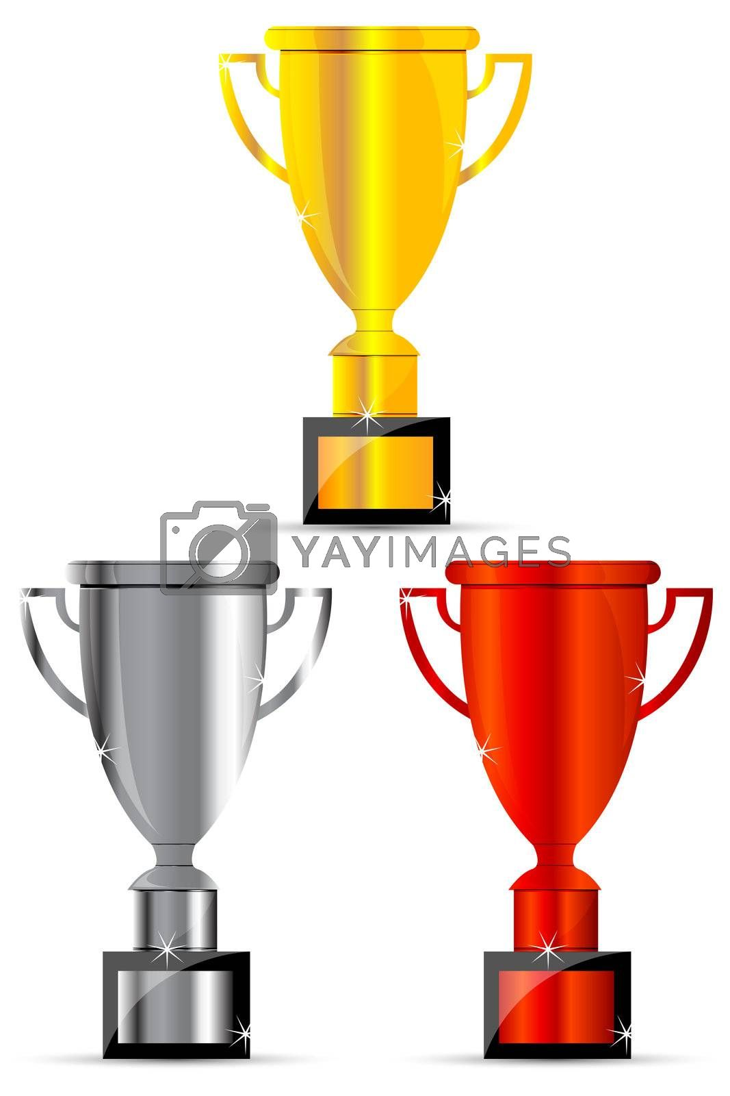 Royalty free image of trophy icons by get4net