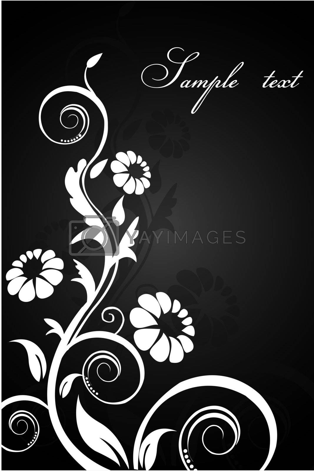 Royalty free image of classical floral background by get4net