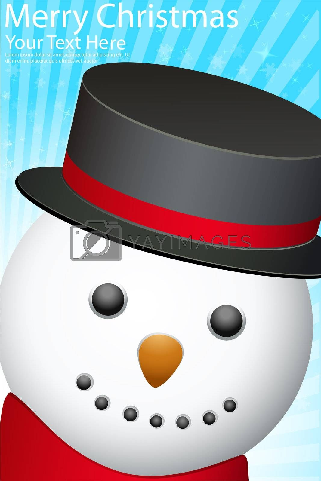 Royalty free image of snowman by get4net