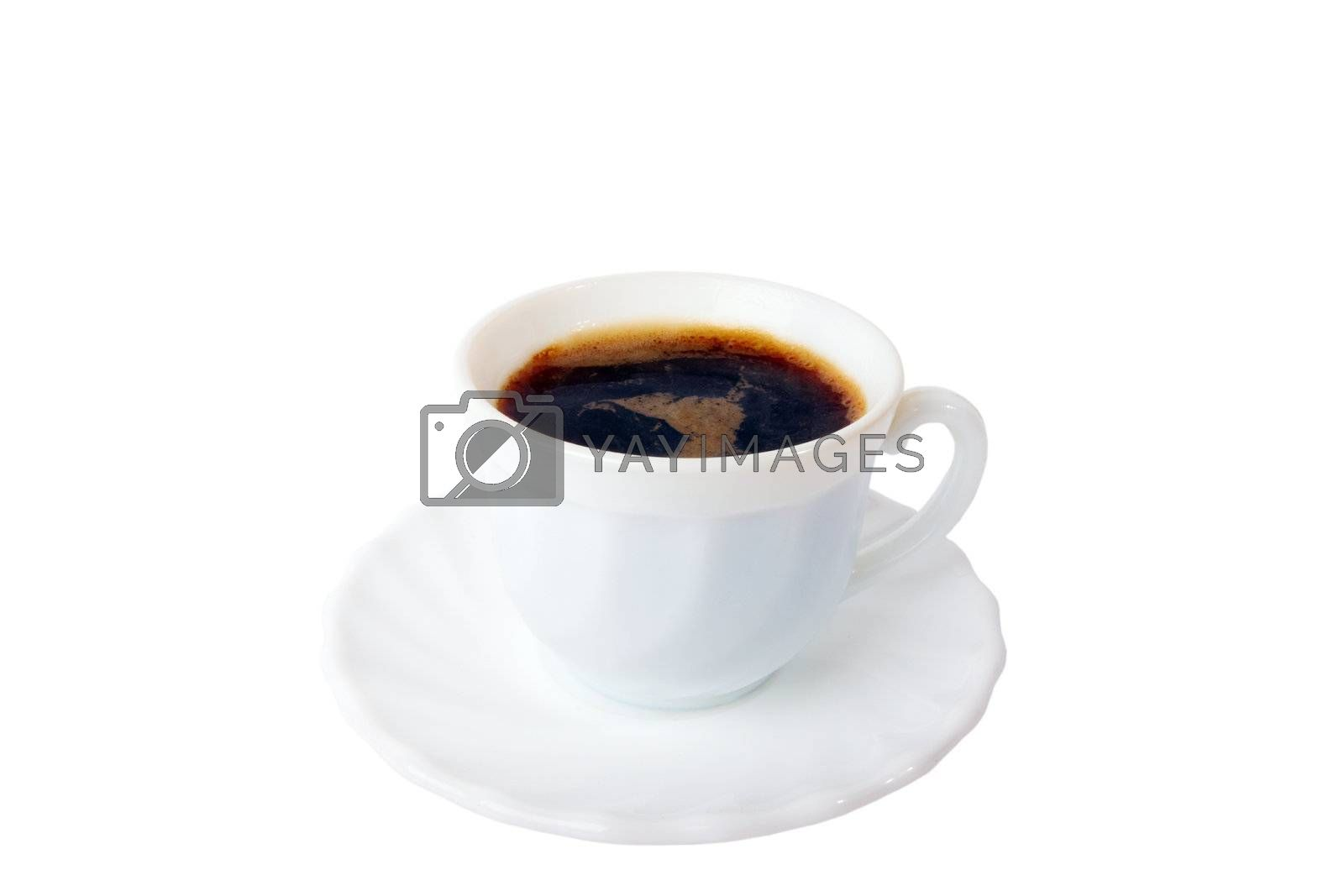 Classic espresso cup isolated on white background