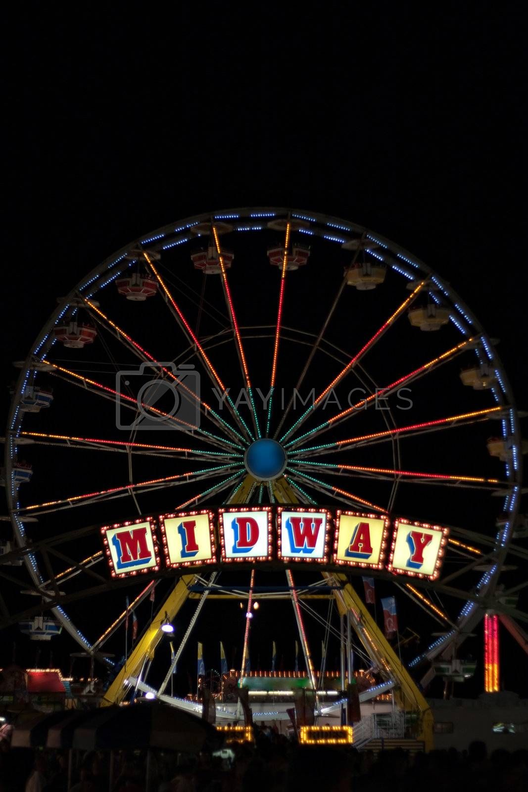 Royalty free image of Carnival Midway by graficallyminded