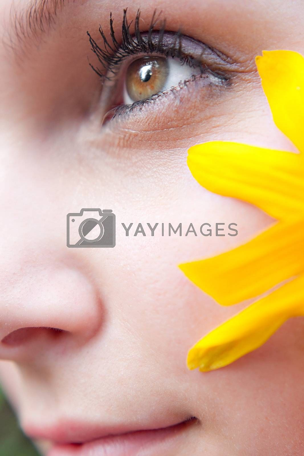 Royalty free image of Yellow Flower Girl by graficallyminded