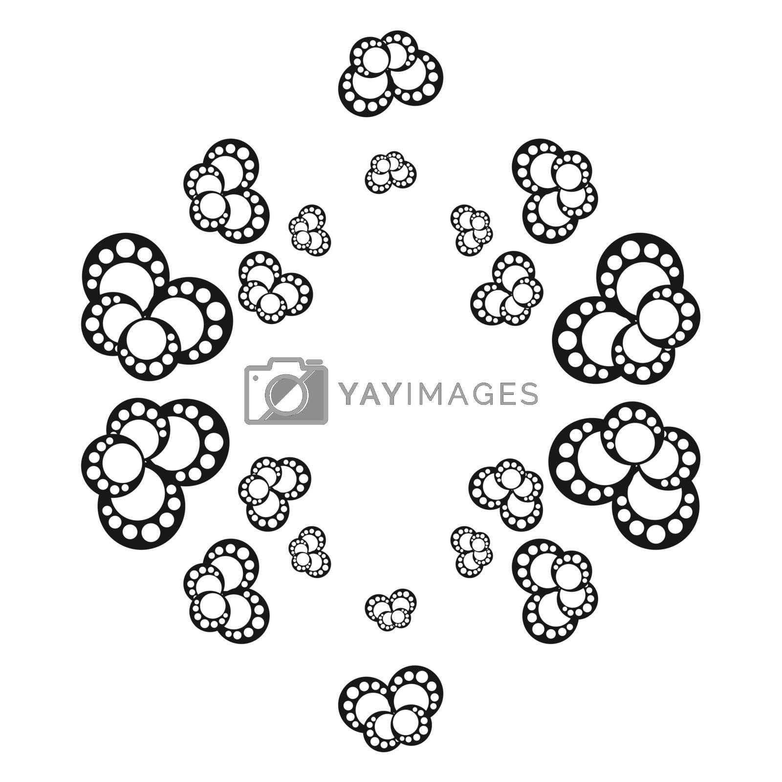 Abstract monochrome vector illustration