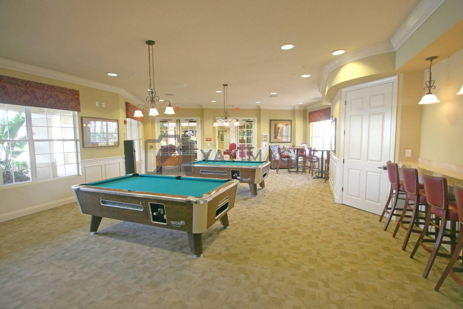 Royalty free image of Games Room by quackersnaps