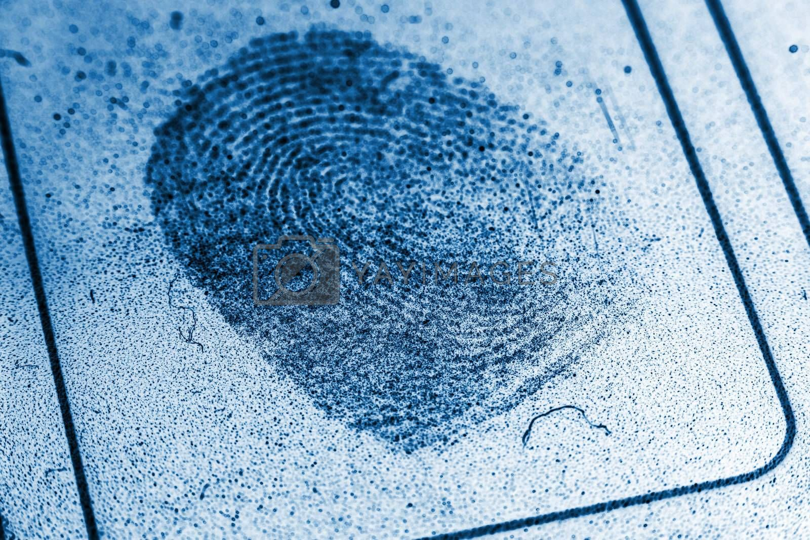 Royalty free image of Dusty Fingerprint Record by p0temkin