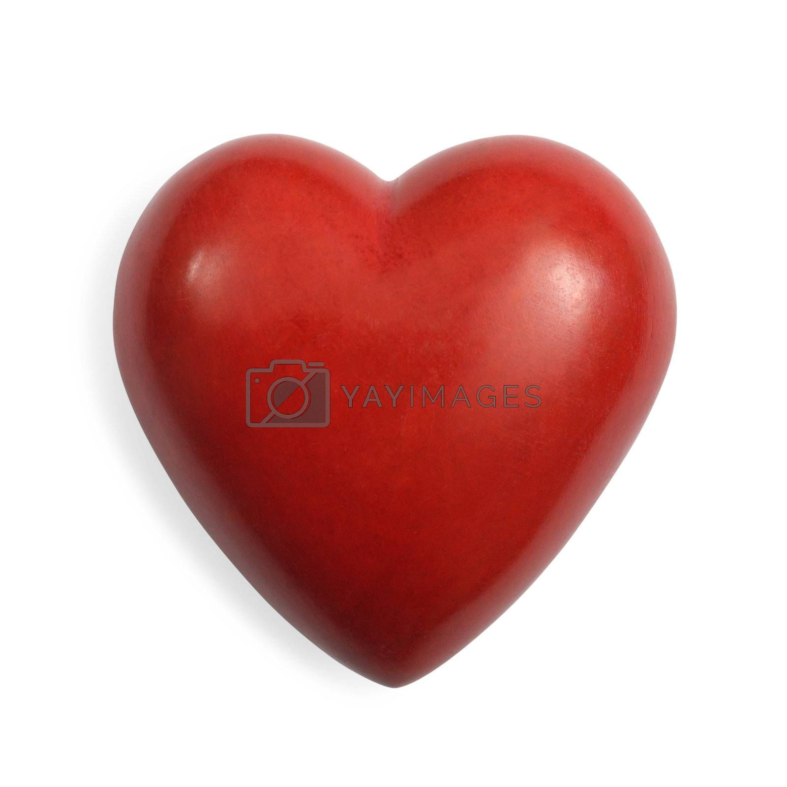 Royalty free image of Red stone heart isolated by sumners