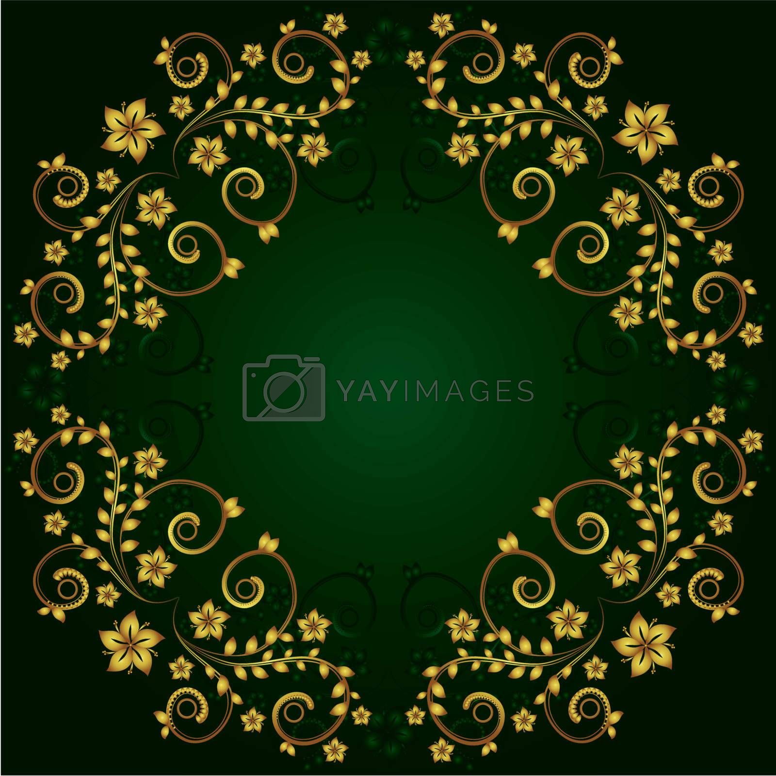 Abstract vector floral background for your design project.
