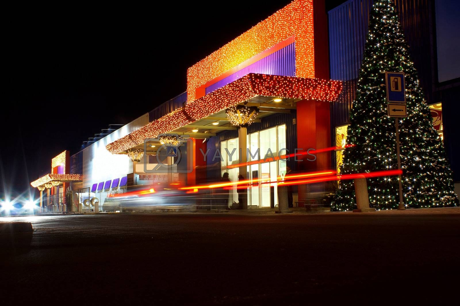 Royalty free image of Christmas decorated shopping center, Jihlava Czech Republic by artush