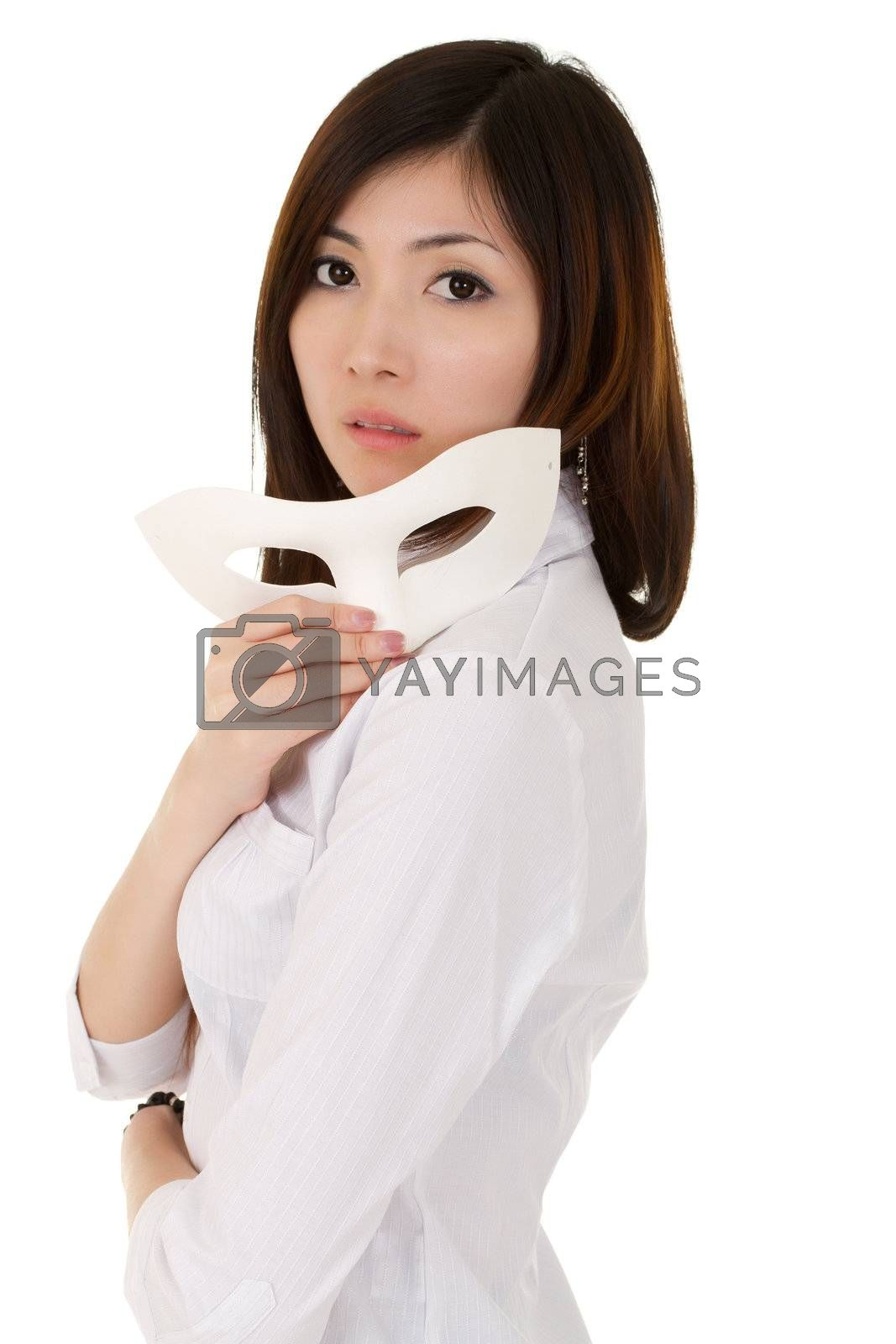 Royalty free image of mysterious business woman by elwynn