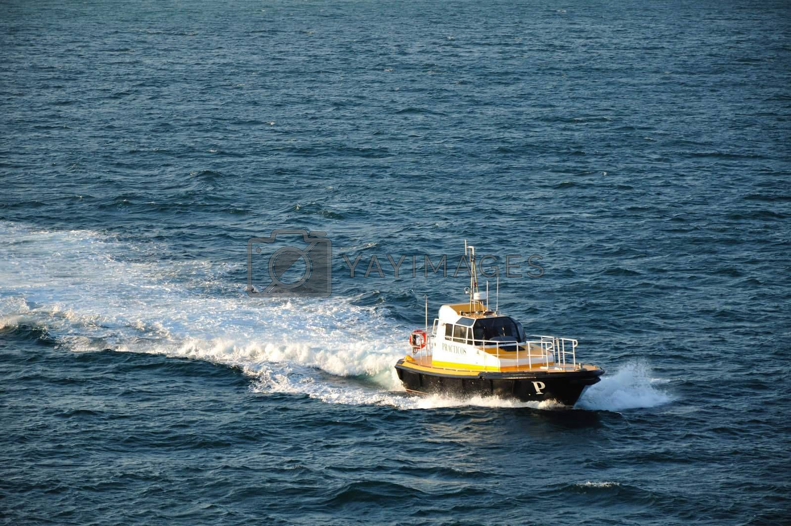 Royalty free image of Pilot boat by mizio1970