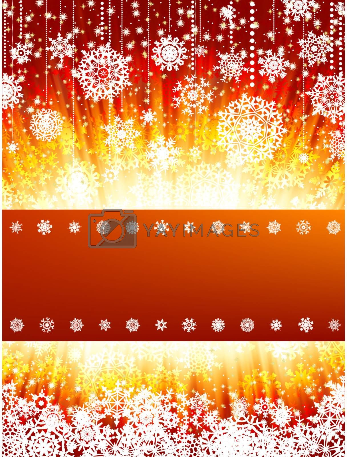 Royalty free image of Bright new year and cristmas card. EPS 8 by Petrov_Vladimir