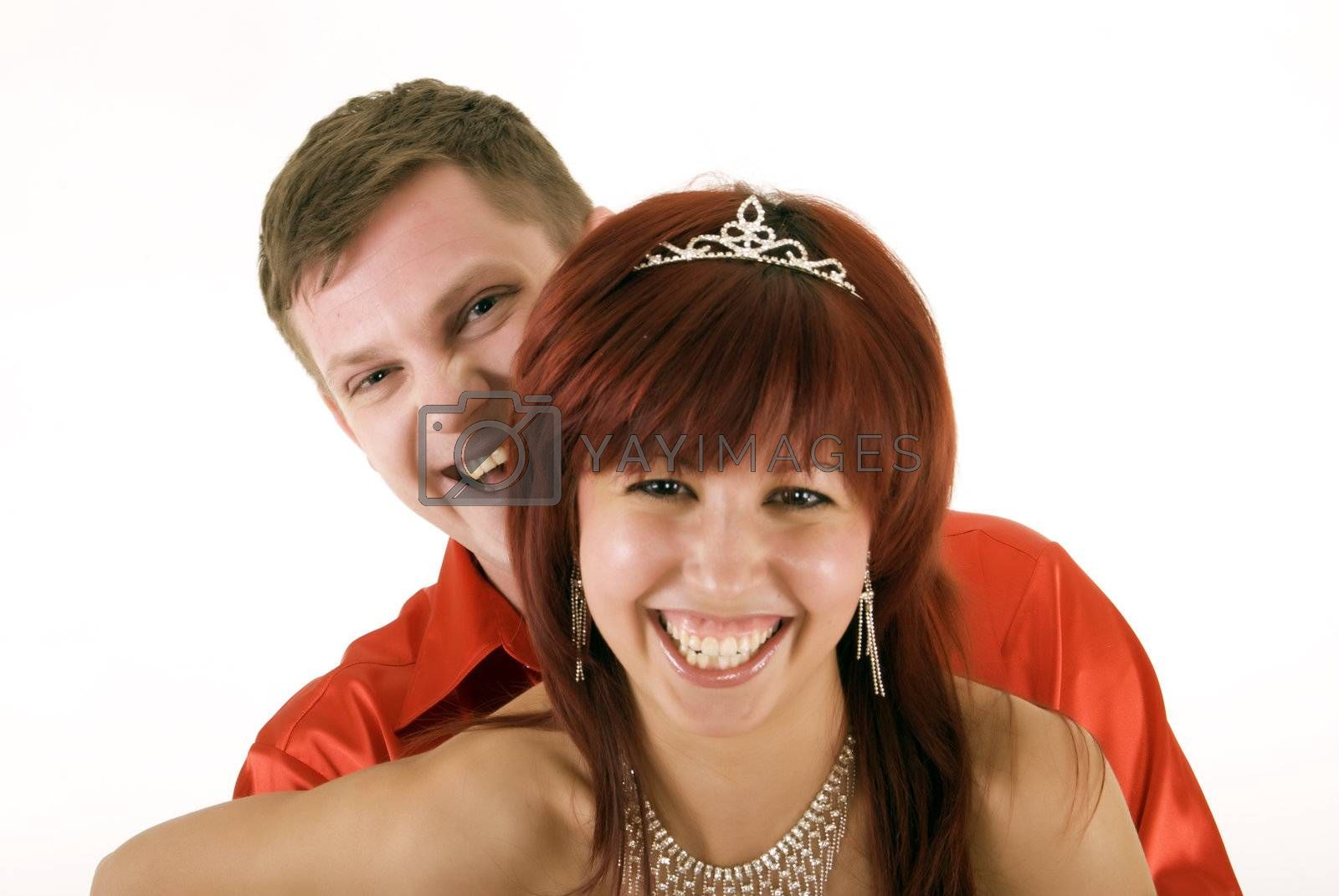 Royalty free image of Young happy couple  by HASLOO