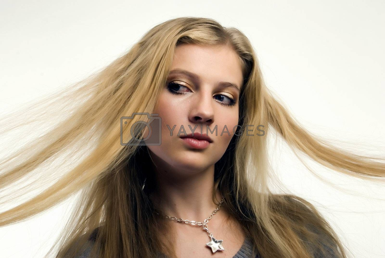 Royalty free image of Portrait of a young girl    by HASLOO