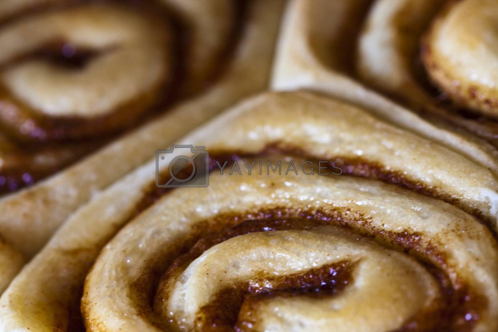 Royalty free image of cinnamon rolls by snokid