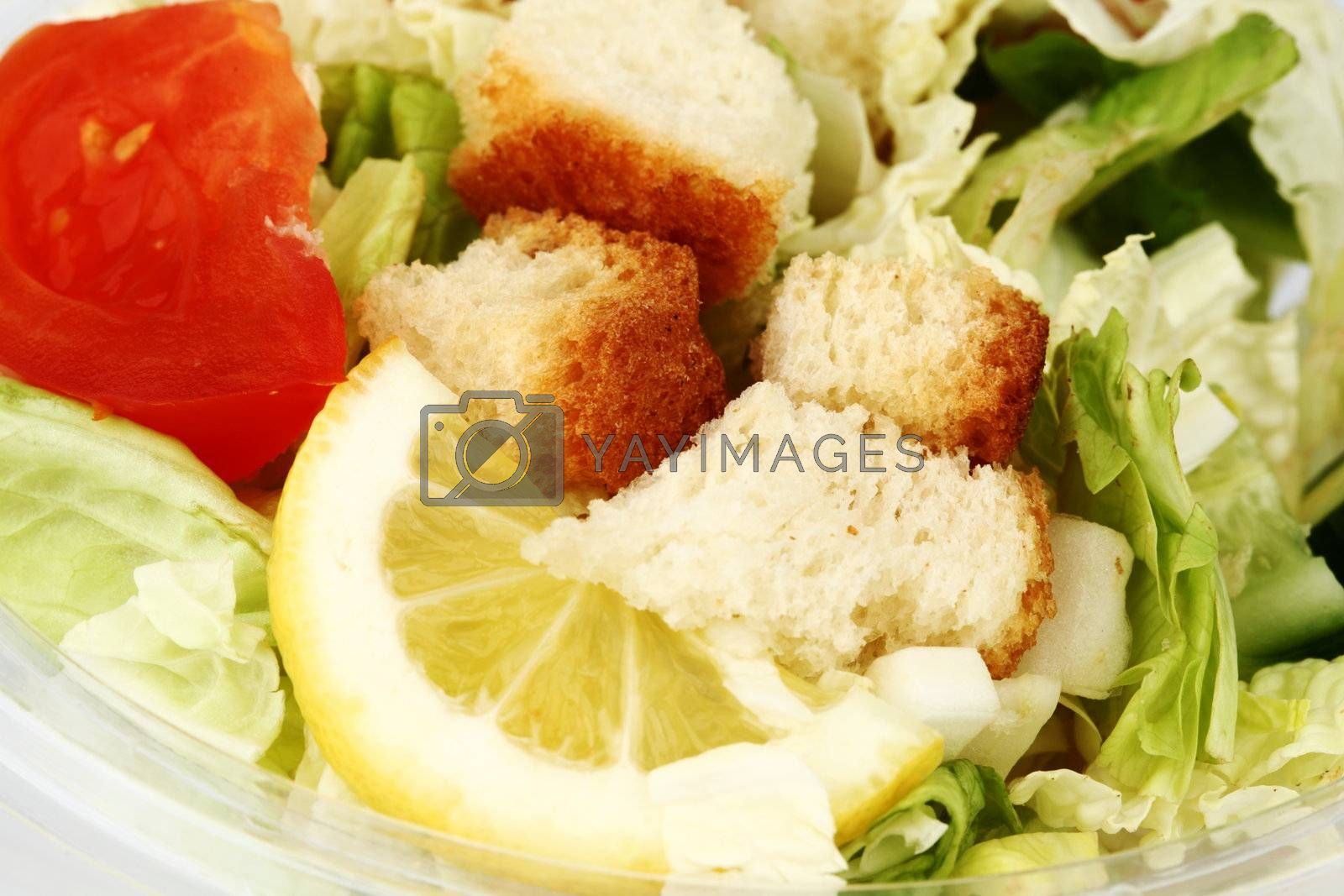 salad close up macro background