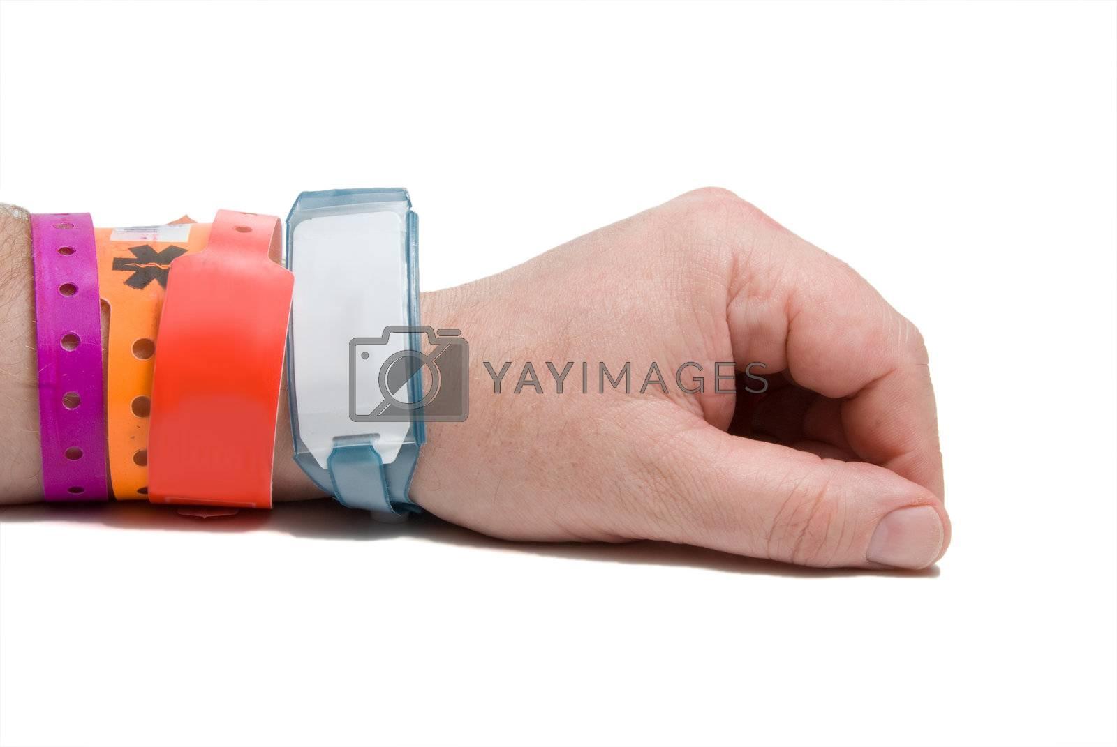 A brand new hospital patient ID bracelet.