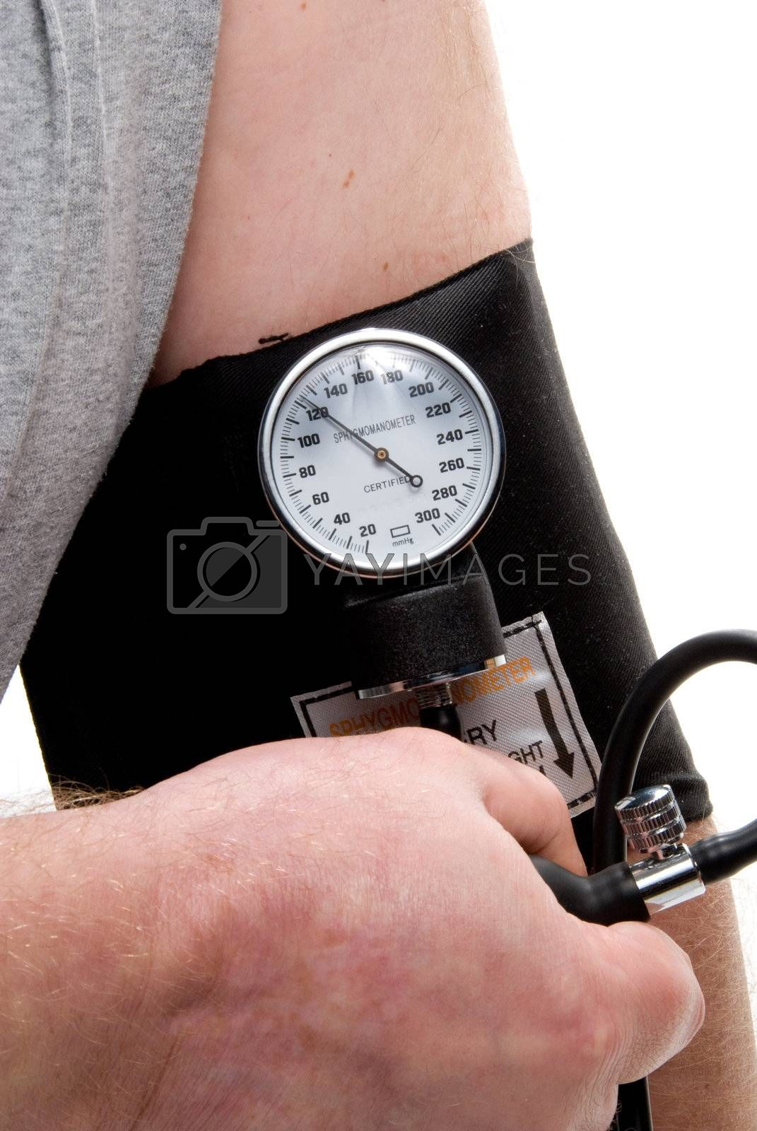A professional blood pressure tool known as a Sphygmomanometer.