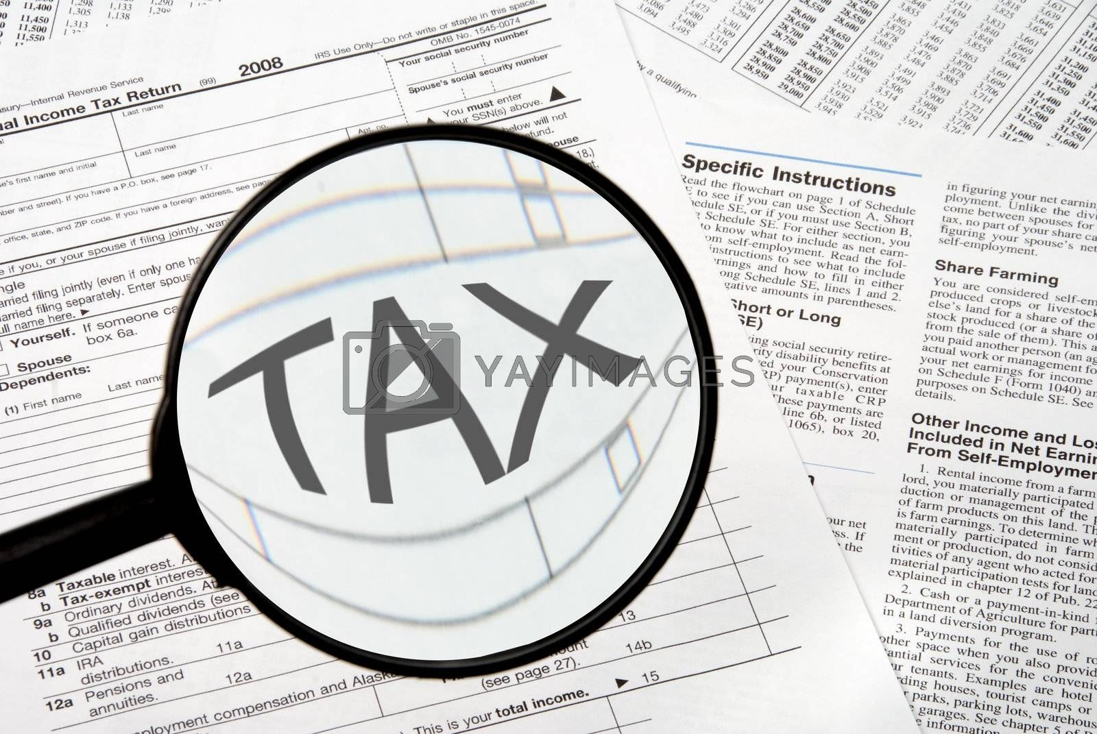 Royalty free image of Taxes by robeo