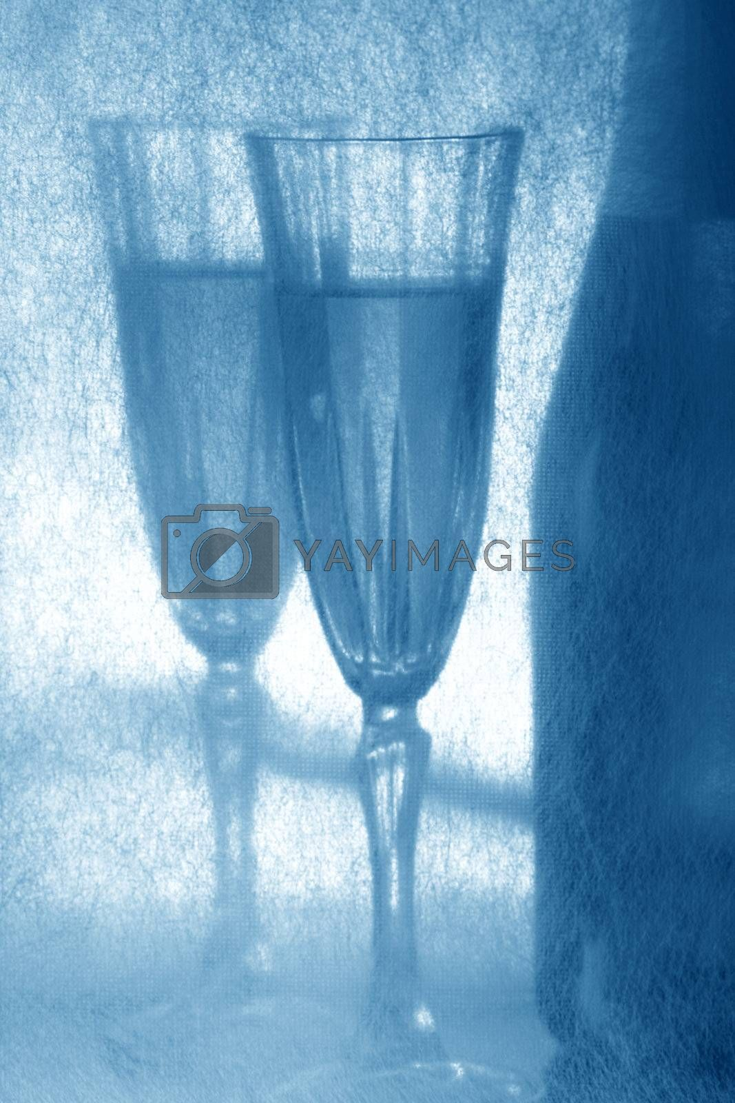 blue new year eve card