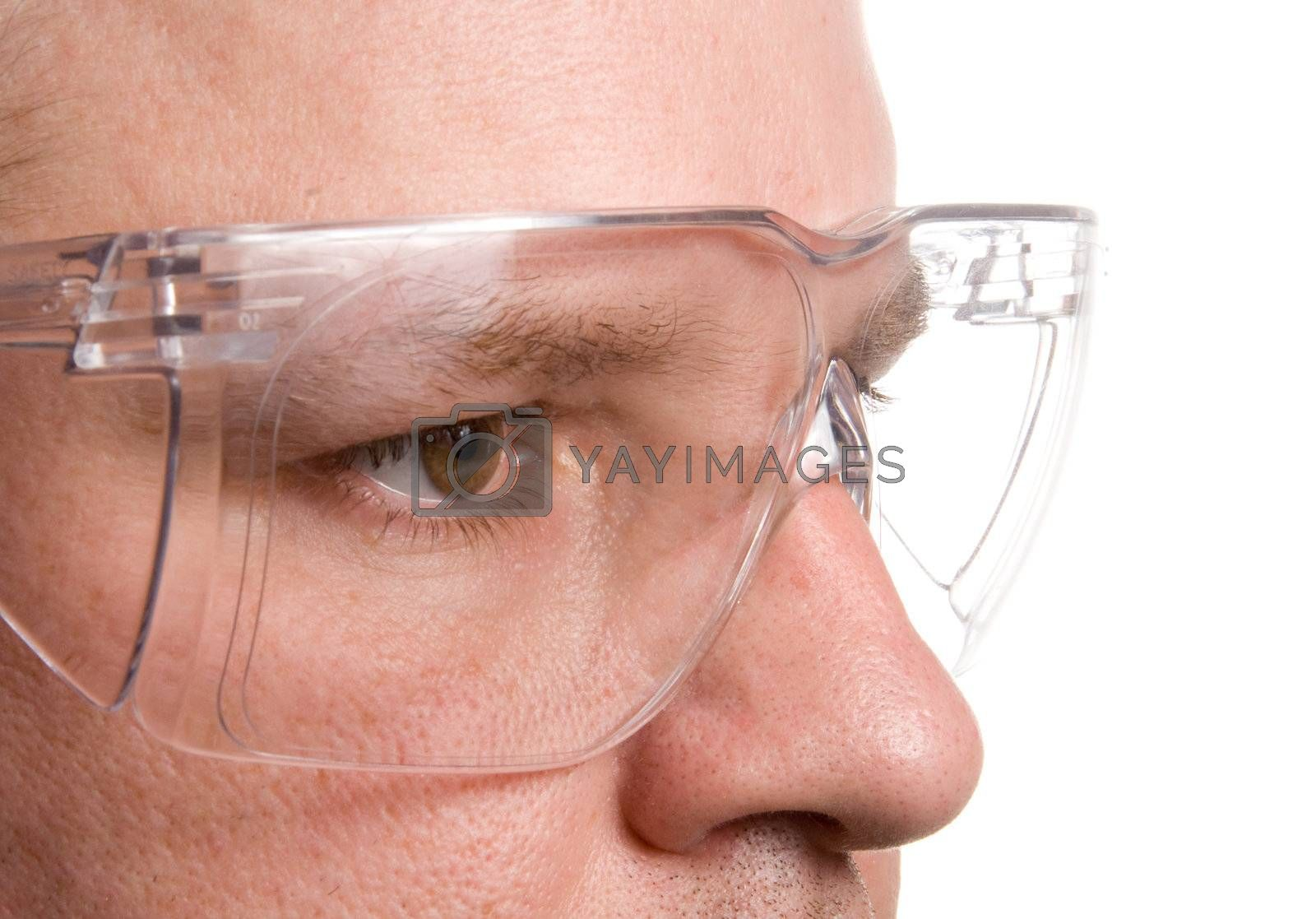 Personal protective equipment known as safety glasses.