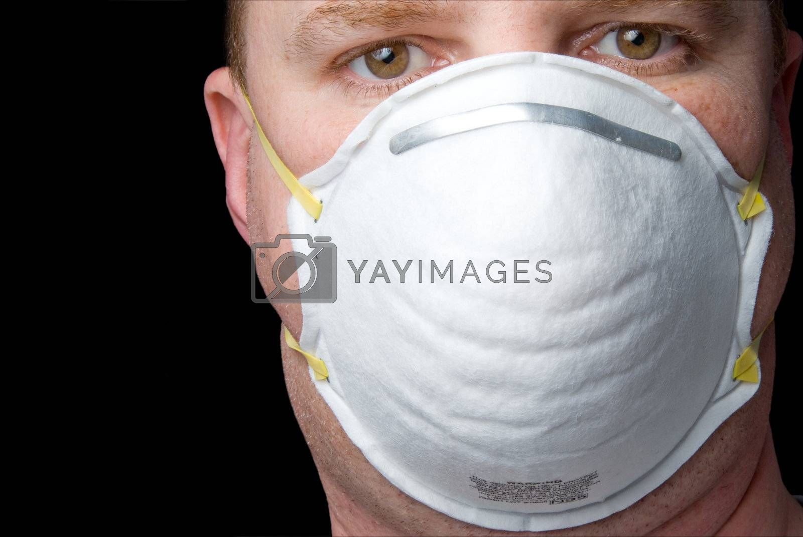 An inexpensive industrial respirator personal protective equipment.