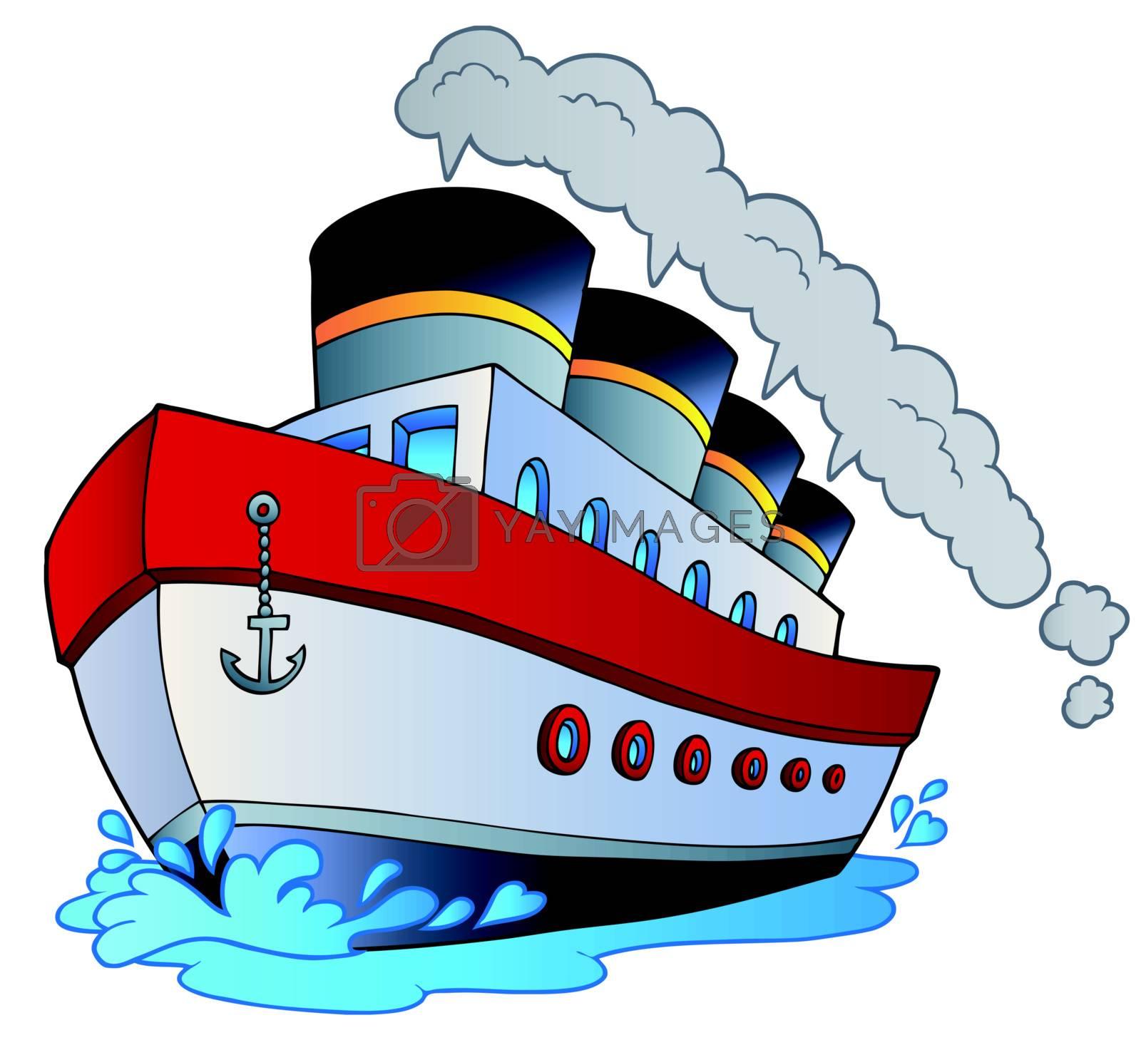 Big cartoon steamship by clairev