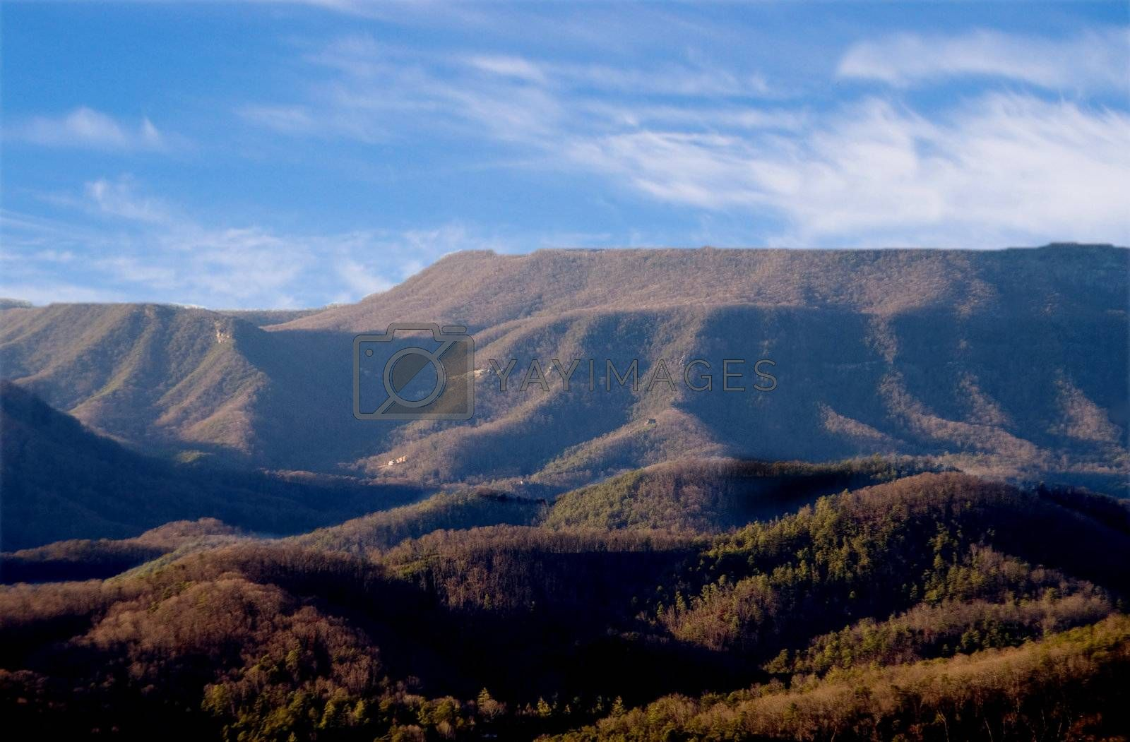 Tha Appalachian Mountains in the eastern United States