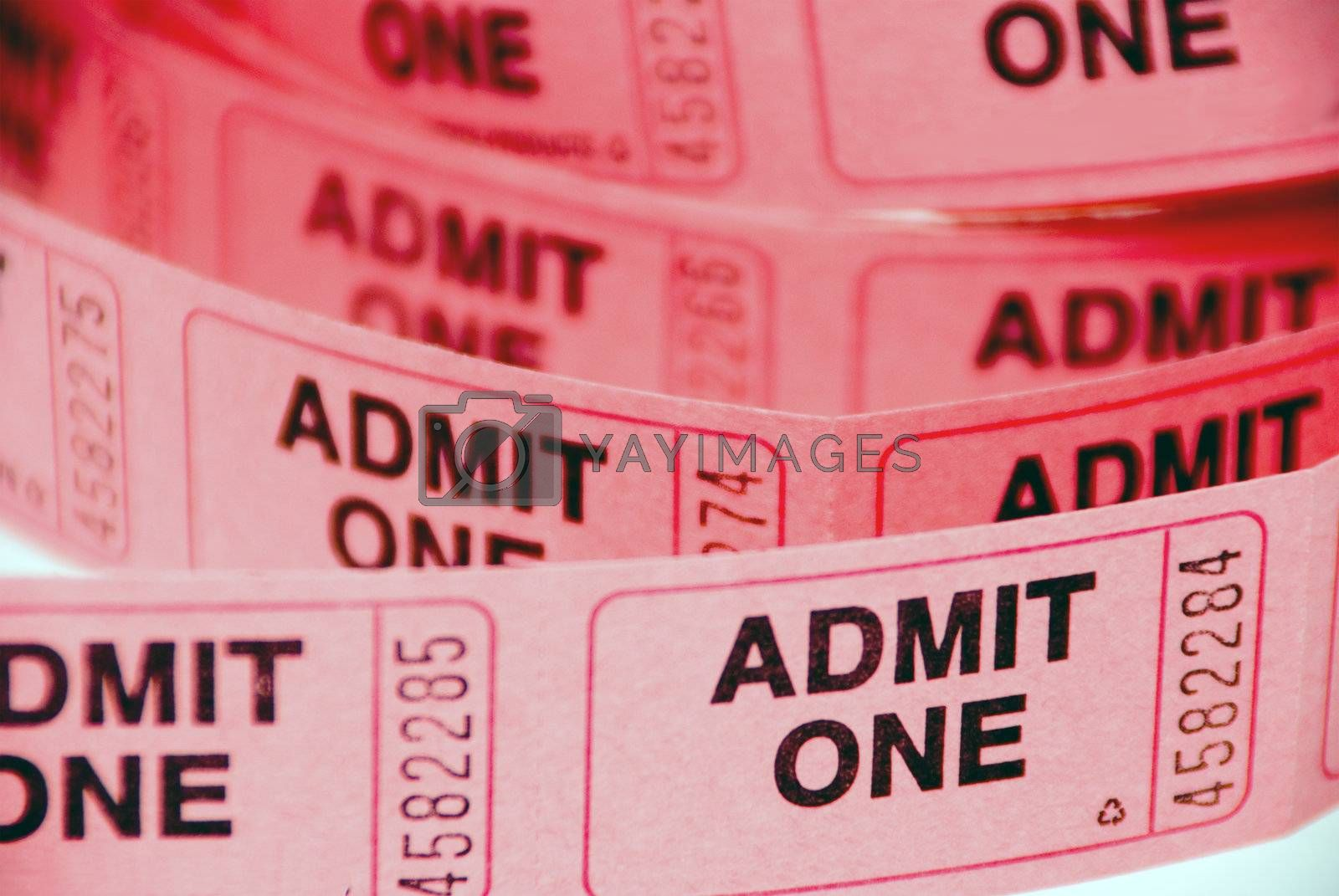 A small roll of retail admission tickets.