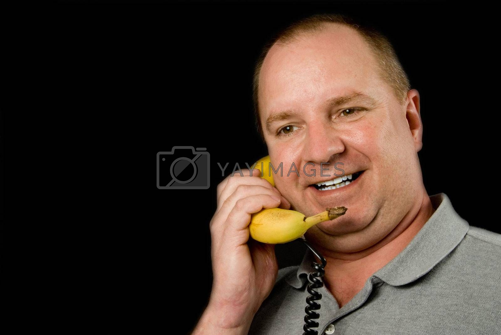 A telephone made out of a banana.