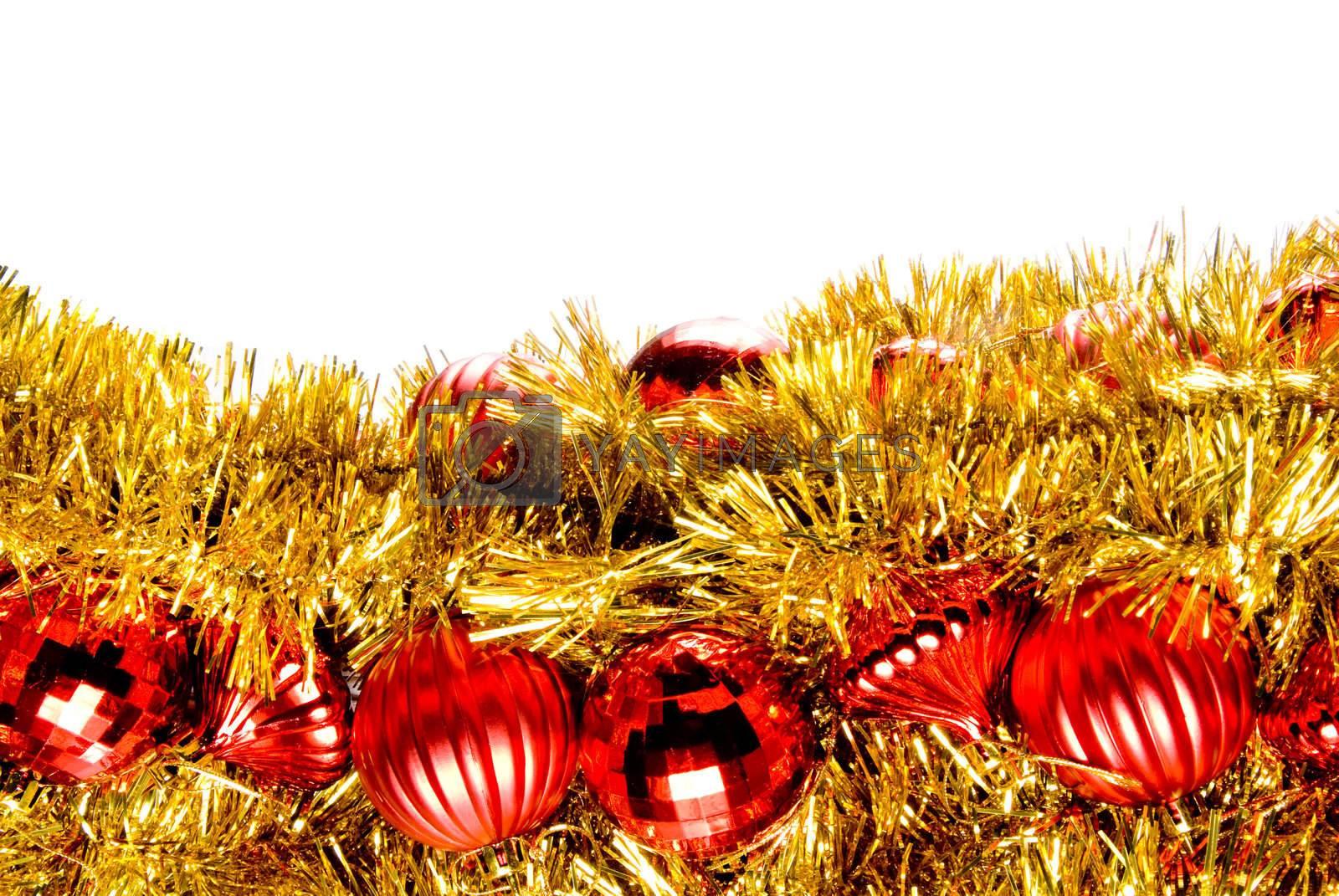 Seasonal ornaments used during the Christmas season.