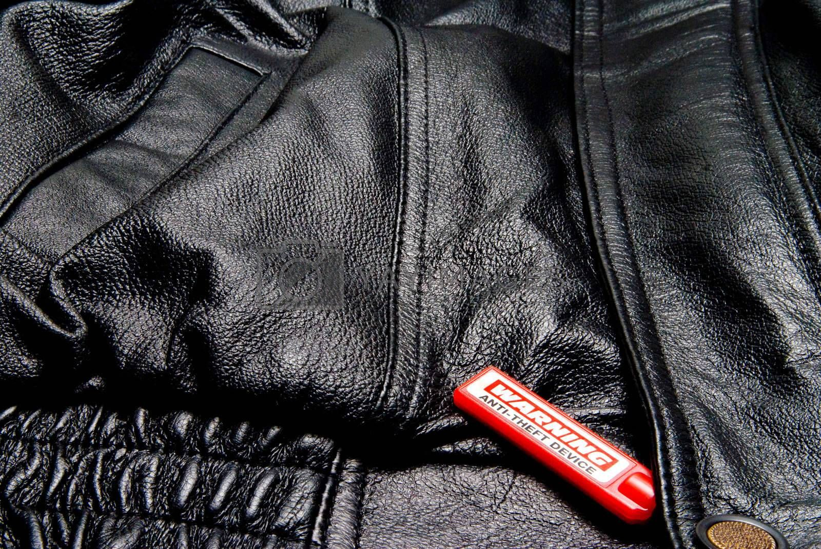 An anti theft device on an expensive article of clothing.