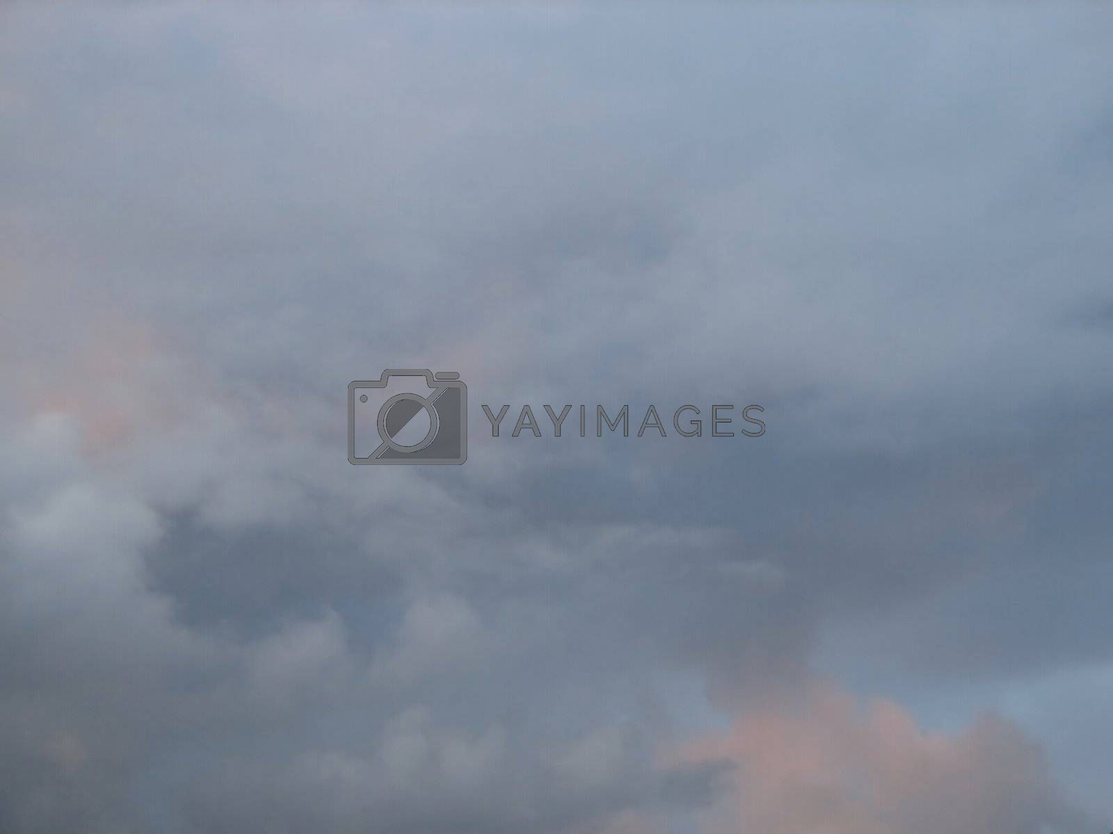 Sky with clouds, usable as background