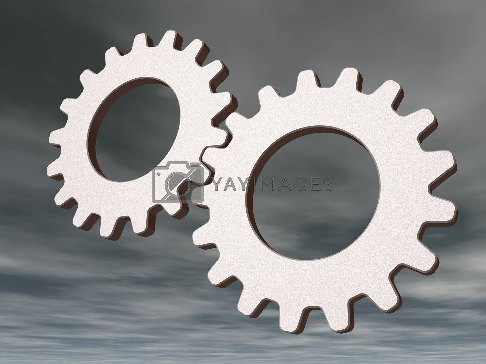 Royalty free image of gears by drizzd