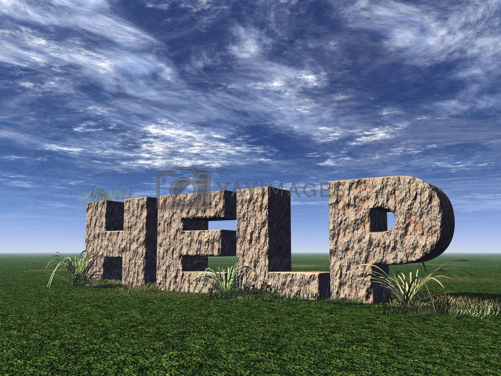 Royalty free image of help rock by drizzd