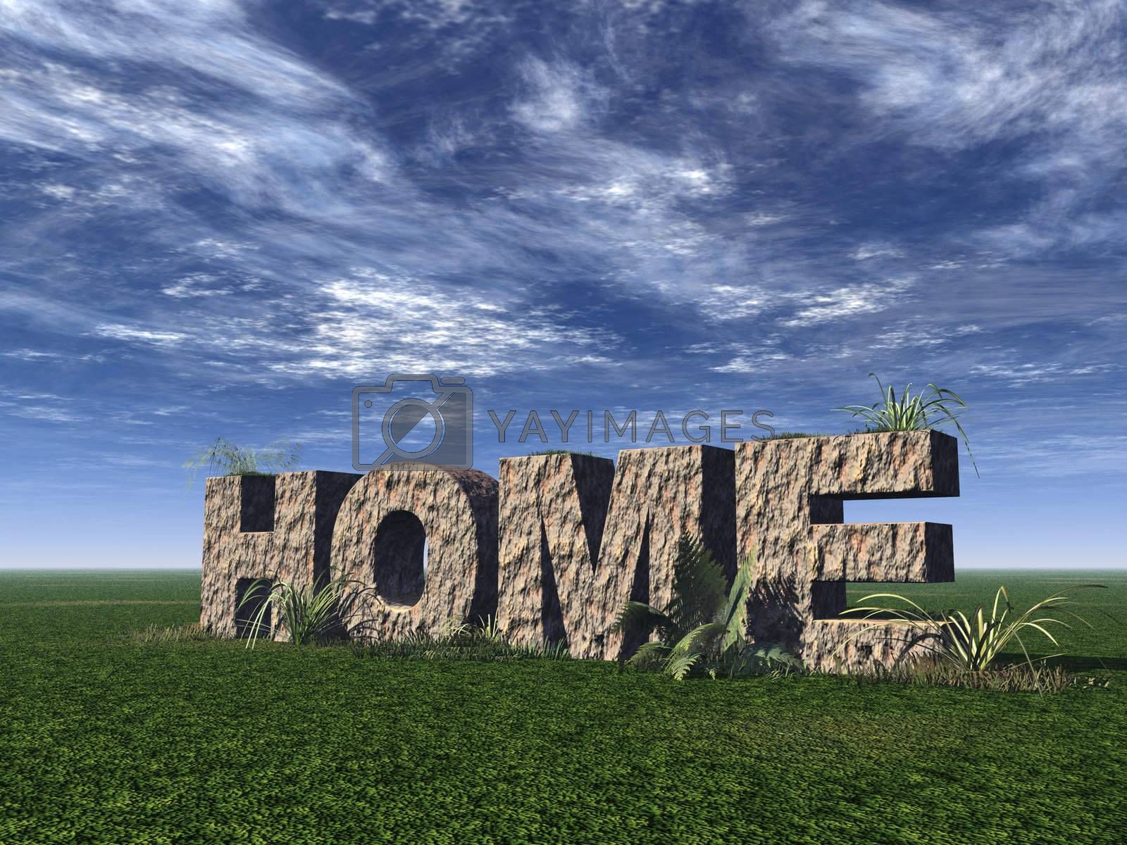 Royalty free image of home by drizzd