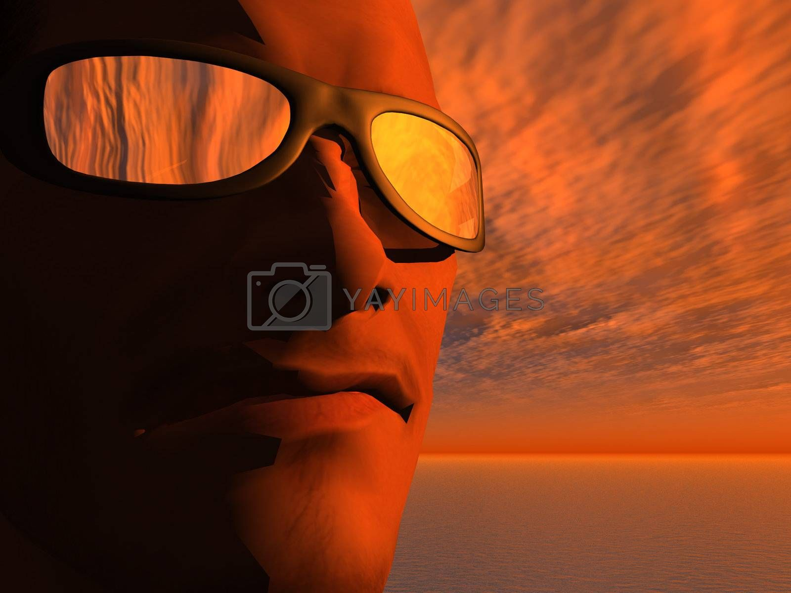 Royalty free image of sunset by drizzd