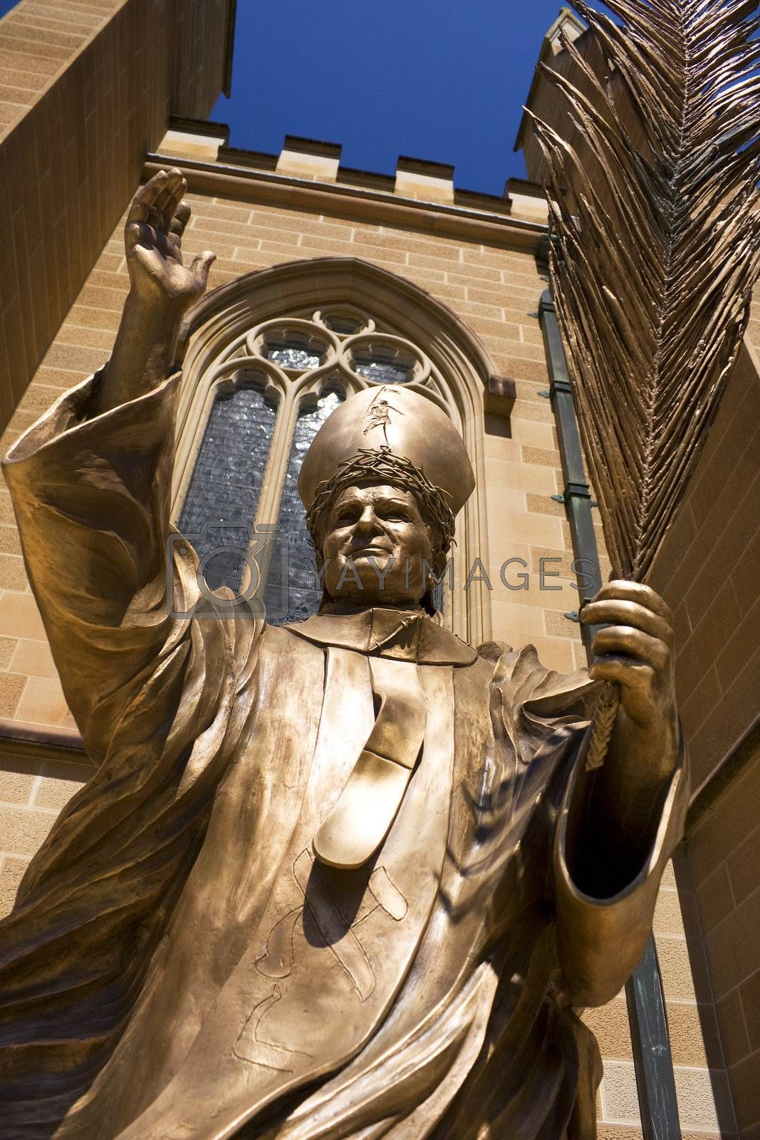 Royalty free image of Statue of Pope John Paul the Great by shariffc