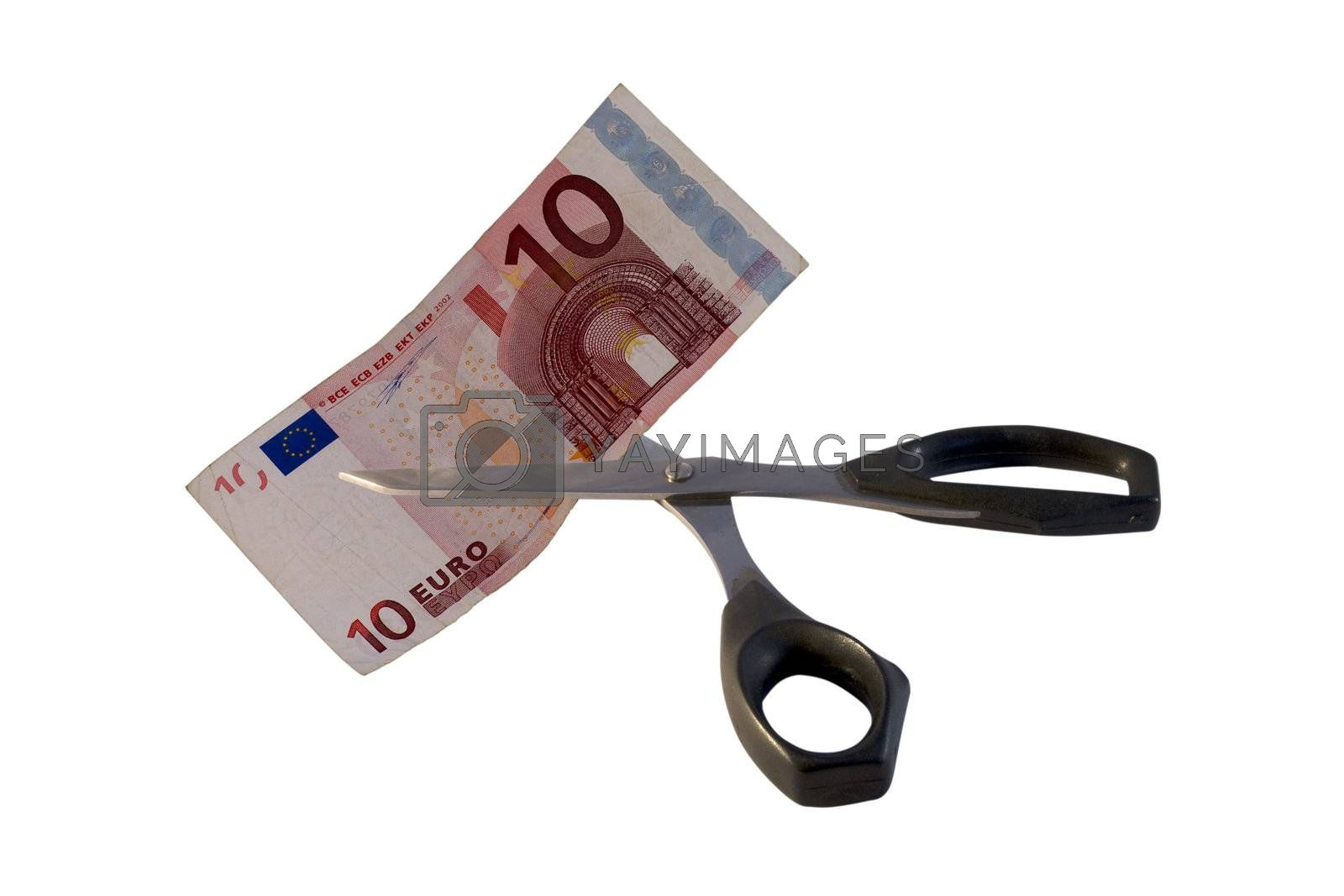 Royalty free image of Cutting money by Koufax73