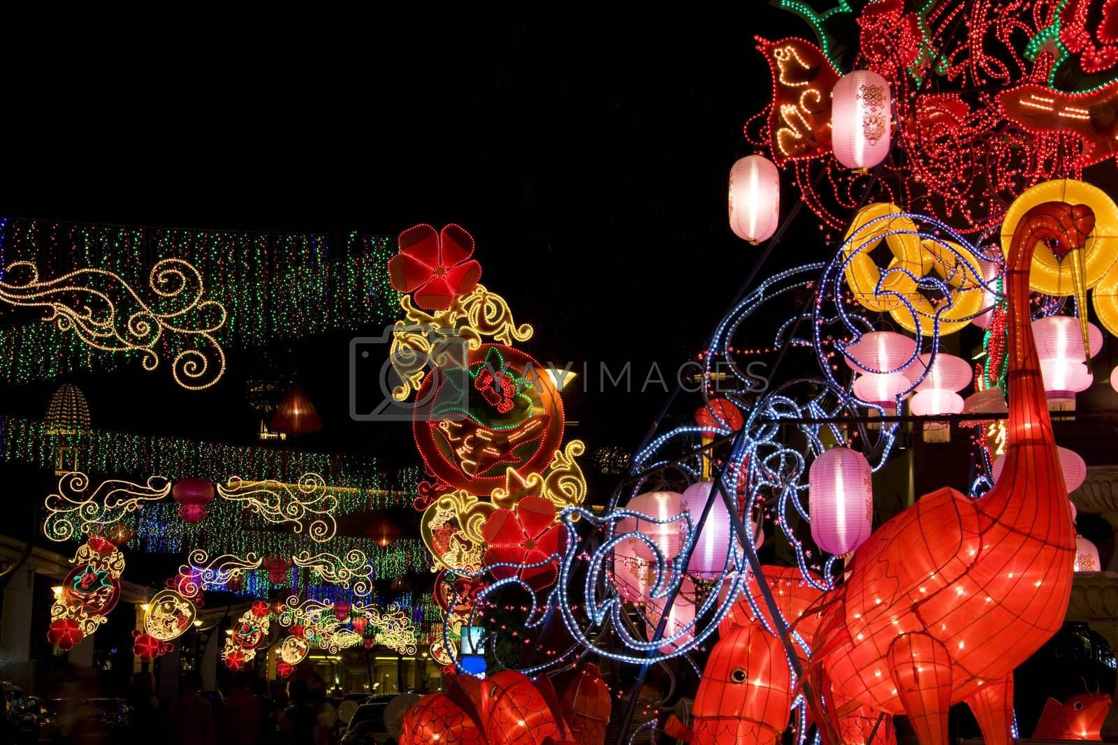 Royalty free image of Chinese New Year Street Decoration by shariffc