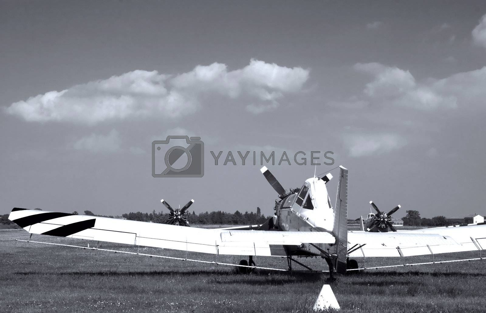 Royalty free image of Old plane by Koufax73