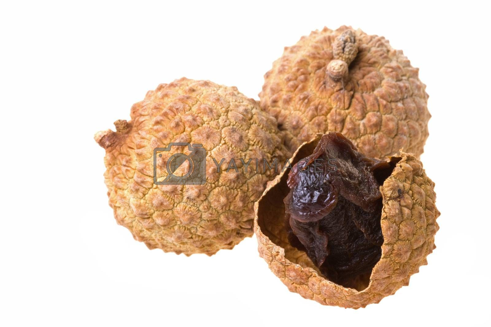 Royalty free image of Dried Lychees Isolated by shariffc