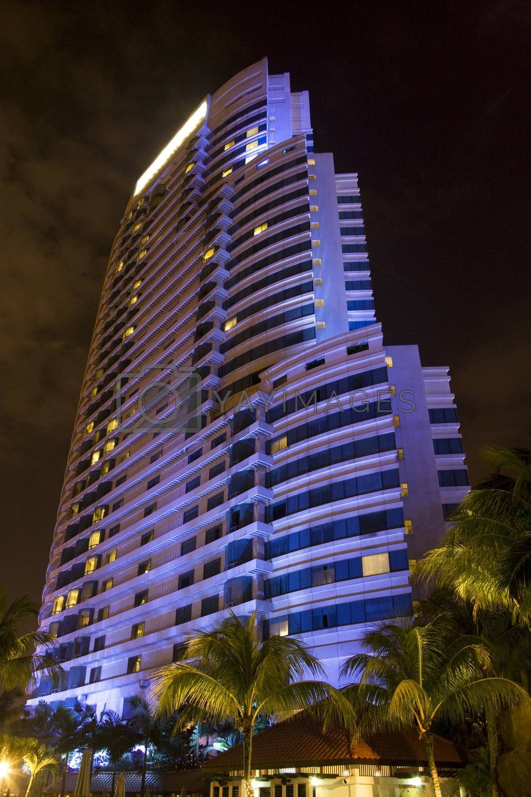Royalty free image of Modern Building at Night by shariffc