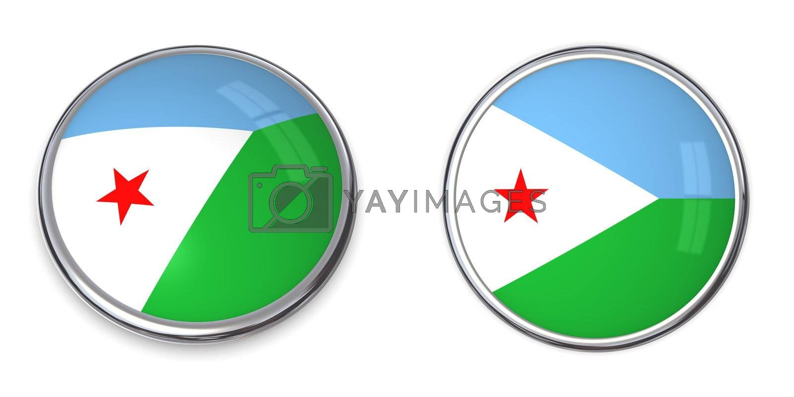 Royalty free image of Banner Button Djibouti by PixBox