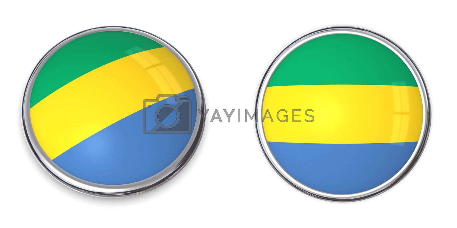 Royalty free image of Banner Button Gabon by PixBox