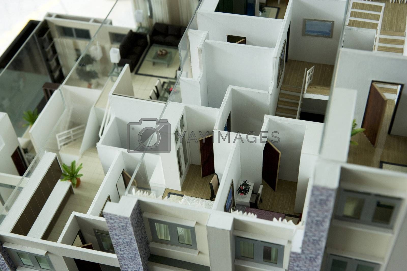 Royalty free image of Model House Interior by shariffc