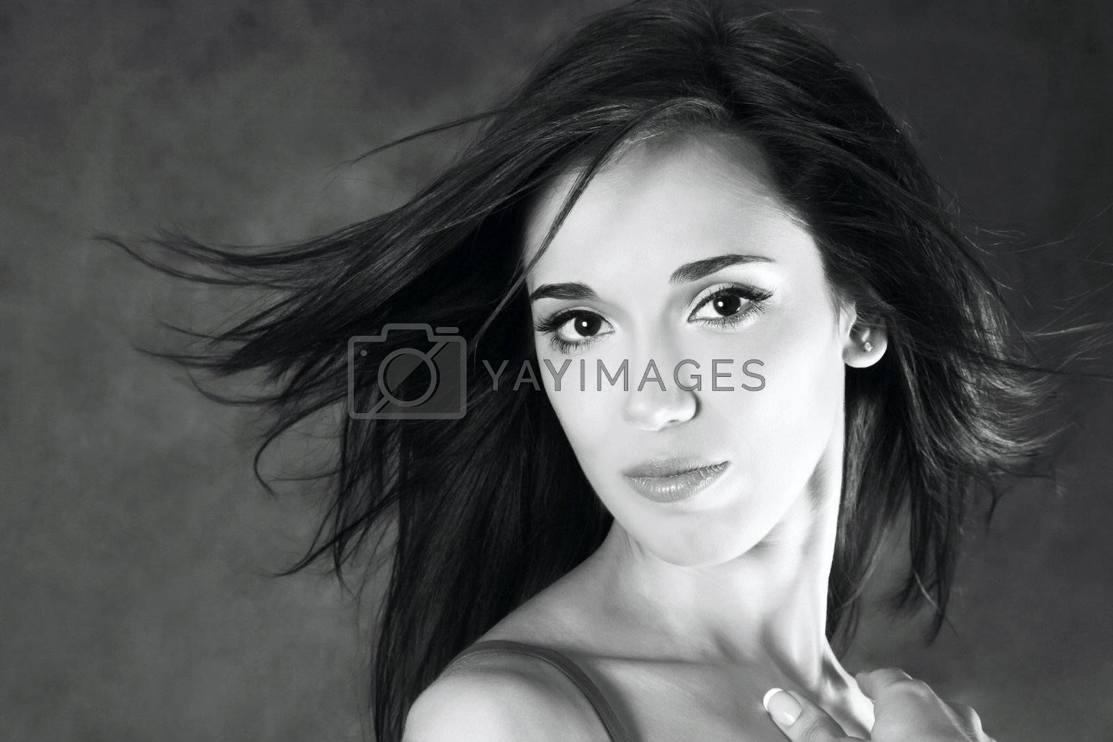 Royalty free image of Beautiful girl by friday