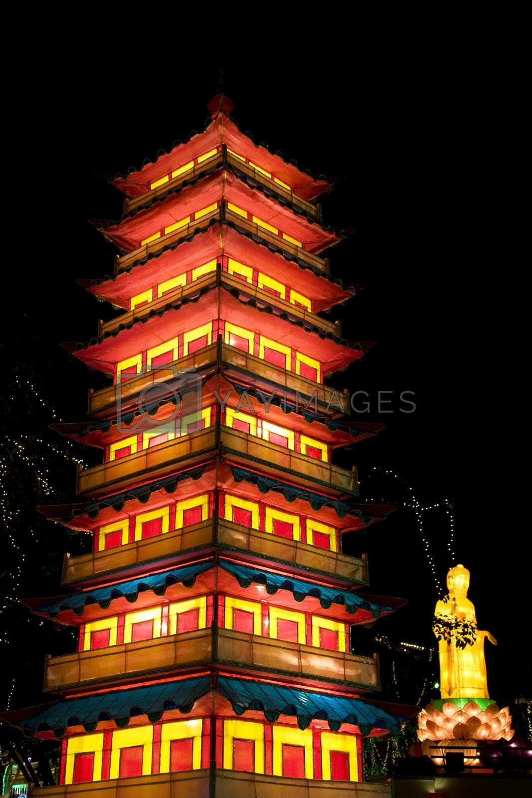 Royalty free image of Yangzhou Da Ming Temple Lantern by shariffc