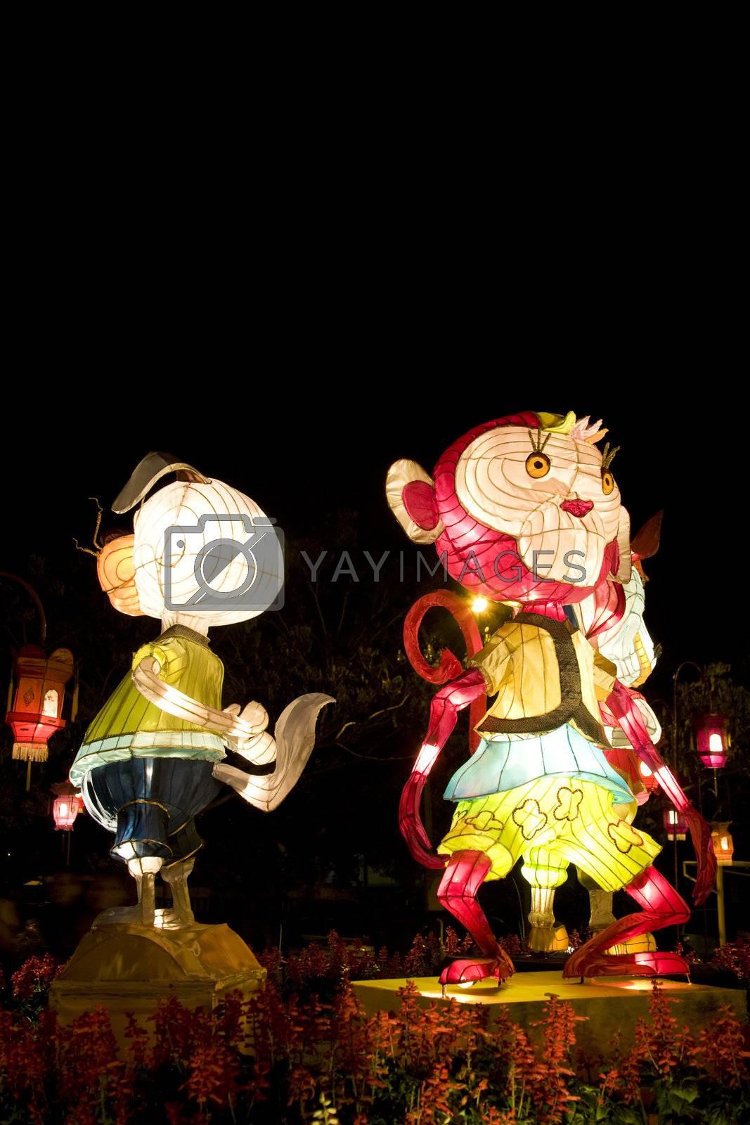 Royalty free image of Chinese Animal Zodiac Lanterns by shariffc