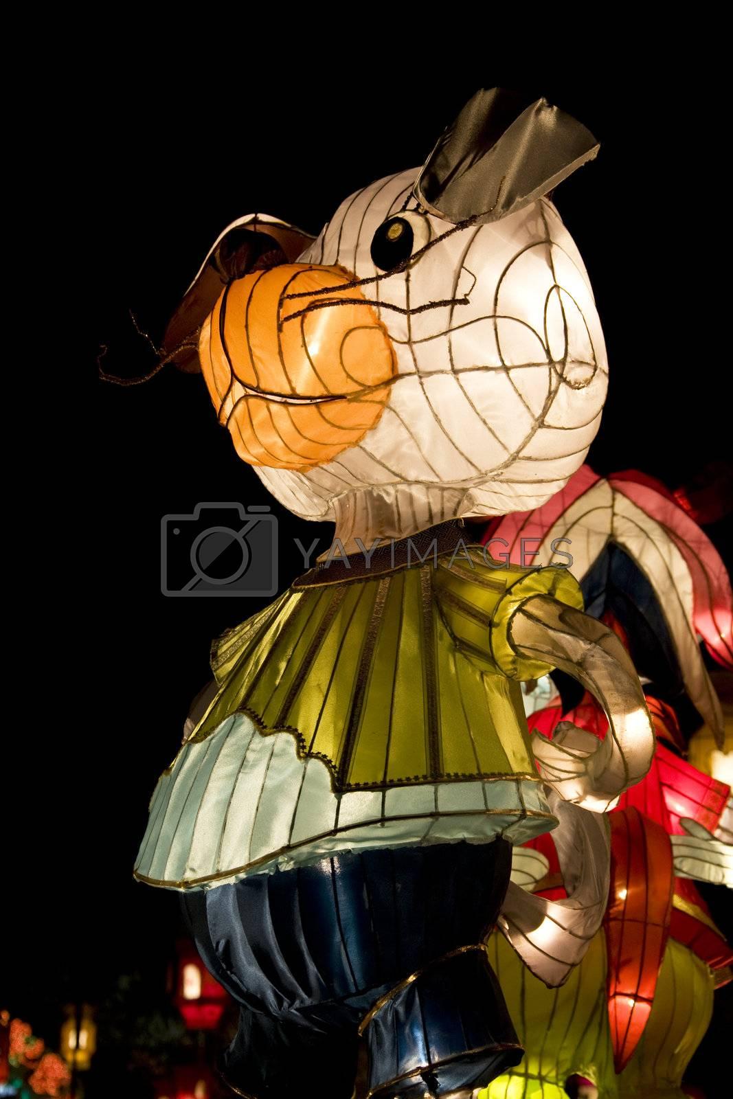 Royalty free image of Chinese Dog Animal Zodiac Lantern by shariffc