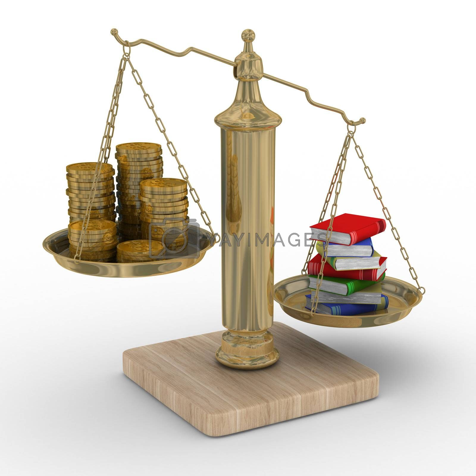 Royalty free image of Paid training. Isolated 3D image by ISerg